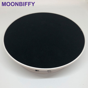Image 5 - 20cm 360 Degree Electric Rotating Turntable Display Stand for Photography Max Load 1.5Kg video shooting props Turntable Battery