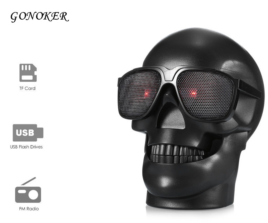 GONOKER Skull Head Shape Portable Wireless Bluetooth Speaker for font b Desktop b font PC Laptop