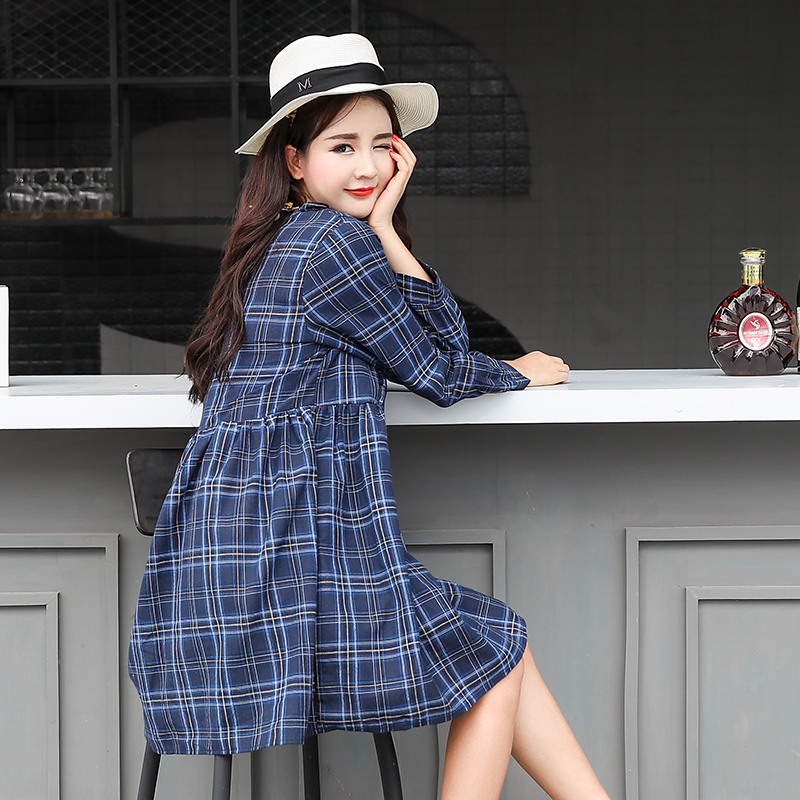 2017 autumn maternity clothing maternity o neck stripe one piece dress plus clothes maternity shirts pregnancy 2017 autumn maternity dress t shirt