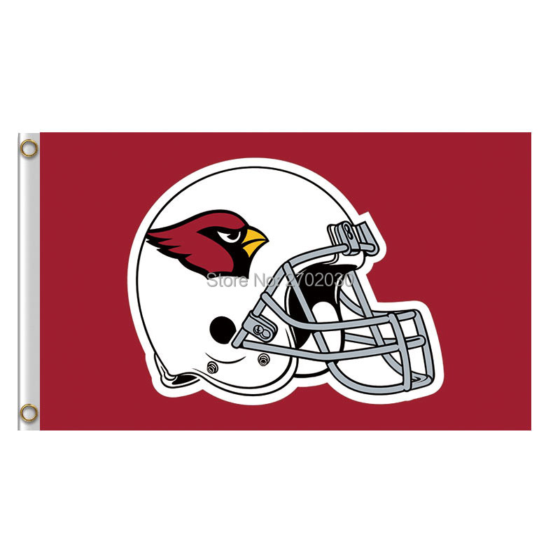 Red Arizona Cardinals Helmet Banner Flag World Series Super Bowl Champions Arizona Cardinals Football Helmet Banner Flag
