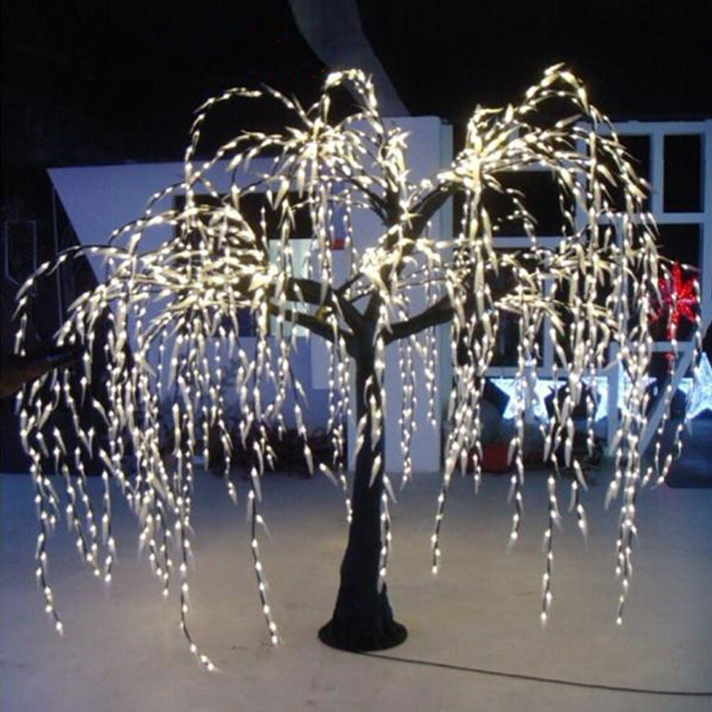 20meter high 2592leds outdoor artificial christmas willow trees with led lights for party holiday show decoration in holiday lighting from lights