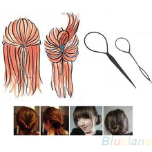 Hot2pcs Womens Girls Topsy Tail Hair Braided Tool Ponytail Maker Styling Tool Hairwrap 7D2D 8TON