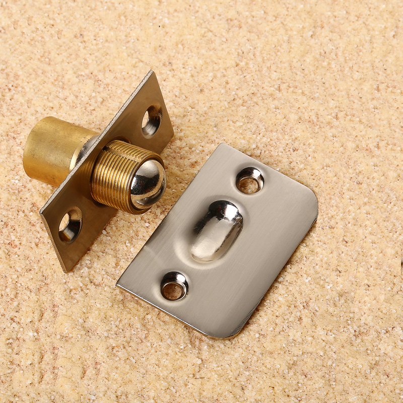 Brass Door Latch Lock For Kitchen Cabinet Spring Roller