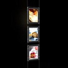 (5 Unidad/columna) A4 pantallas de señalización LED de agentes de una cara, bolsillos iluminados LED expositores de postposturas de retrato y paisaje