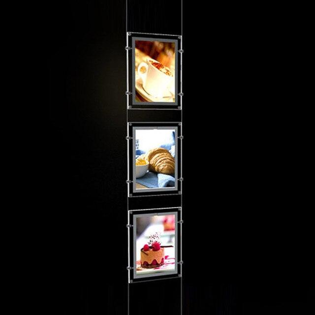 (5Unit/คอลัมน์) A4เดี่ยวEstate Agents LEDป้ายแสดง,LED Illuminatedกระเป๋าแนวตั้งและแนวนอนPosterDisplays