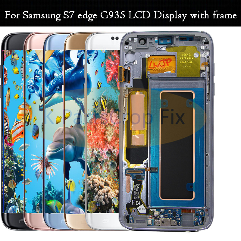 5 5 For SAMSUNG GALAXY S7 EDGE G935 G935F LCD Display Touch Screen Digitizer For Samsung