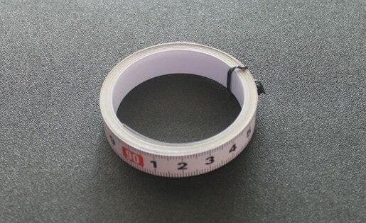 Купить с кэшбэком 600mm Standard Aluminium T-track 45mm Width with Self Adhesive Metric Scale