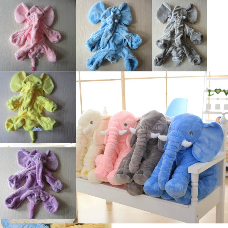 Biggest 60cm Cute Soft Elephant Doll Skin stuffed animals Baby Toys Elephant Pillow Plush Toys Stuffed Doll Girl Friend Gift 40 60cm elephant plush pillow infant soft for sleeping stuffed animals plush toys baby s playmate gifts for children wj346