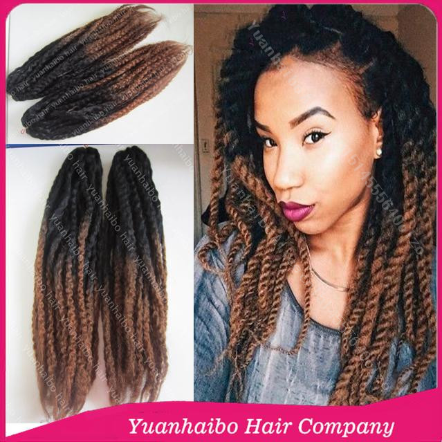 Price 20in Folded 1b 4 Two Tone Marley Braid Hair Ombre