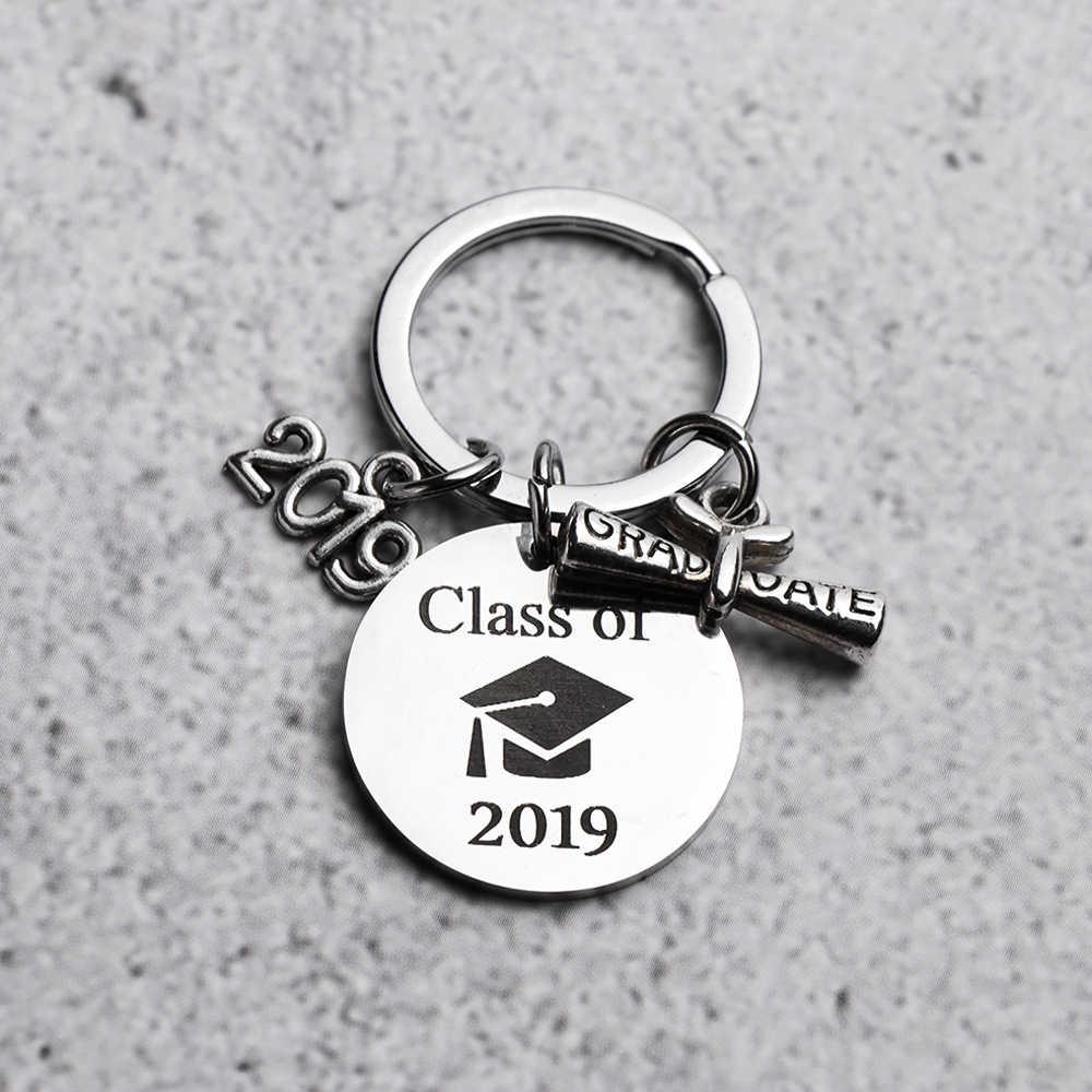 Novo Aço Inoxidável Criativo Graduação Chaveiro Chaveiro Trinket Presente de Formatura Estudante de Pós-graduação A Minha História Está Apenas Começando
