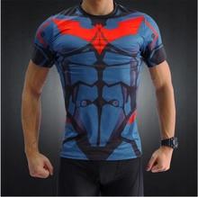 Batman T-shirts Men T Shirt 3D Printed Tee Short Raglan Sleeve Fitness Cosplay Costume Slim Fit Crossfit Compression Top Male