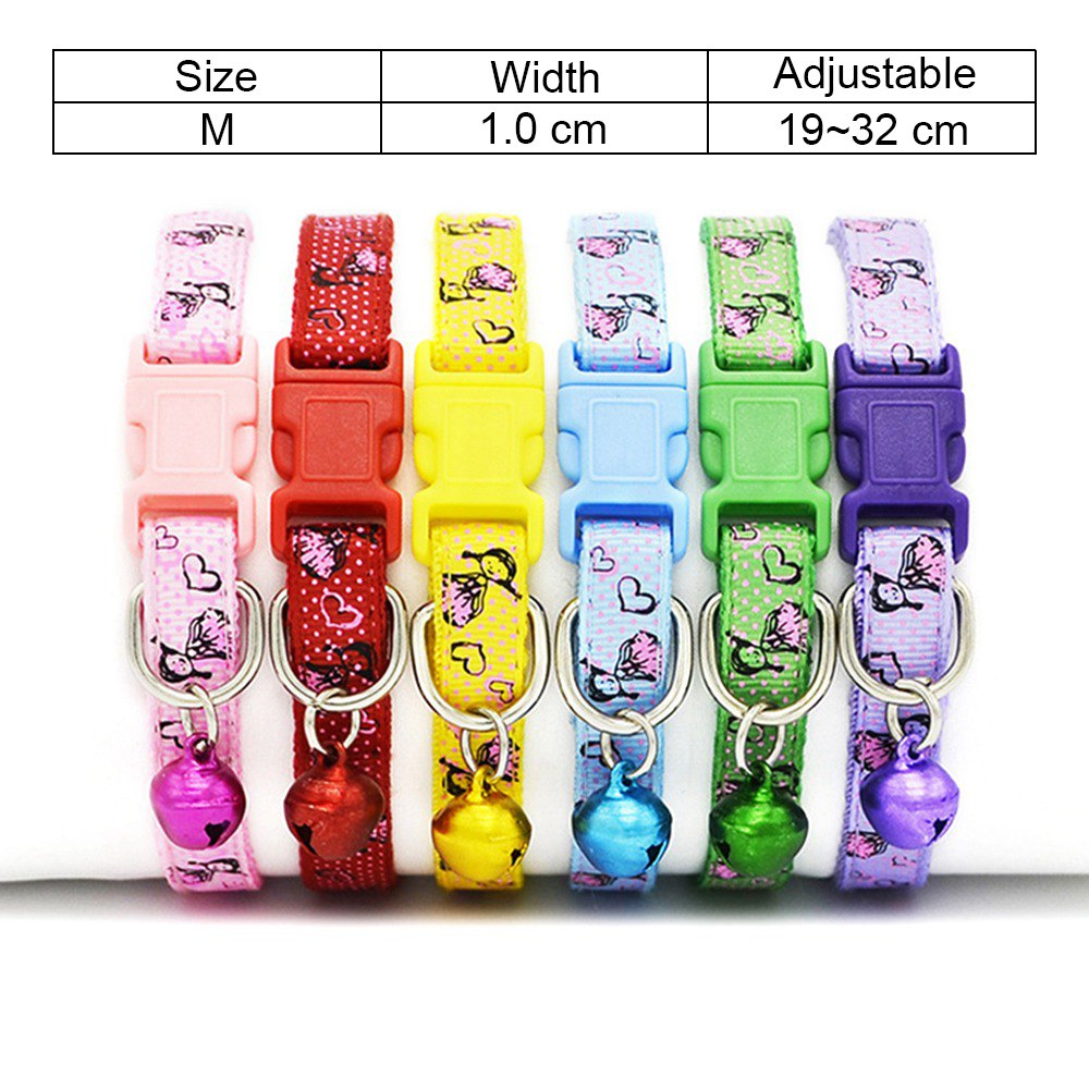 8 Cat Collar Breakaway Collar For Cats With Bell Cat Collars Adjustable Quick Release Puppy Collar Chihuahua Cat Leash Pet Product (10)