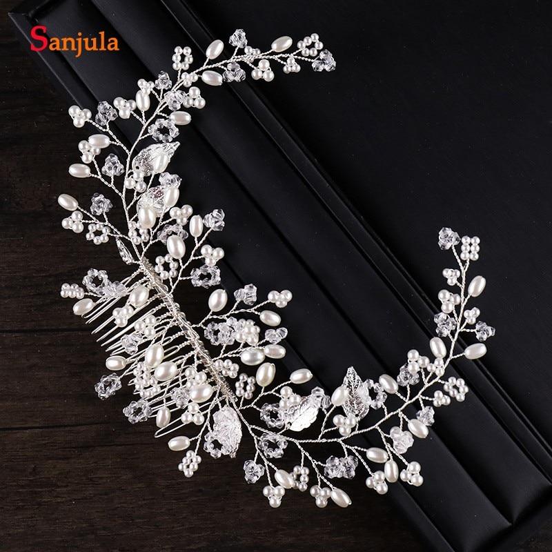 2018 New Designs Silver Bridal Accesory For Hair Wedding Headpieces
