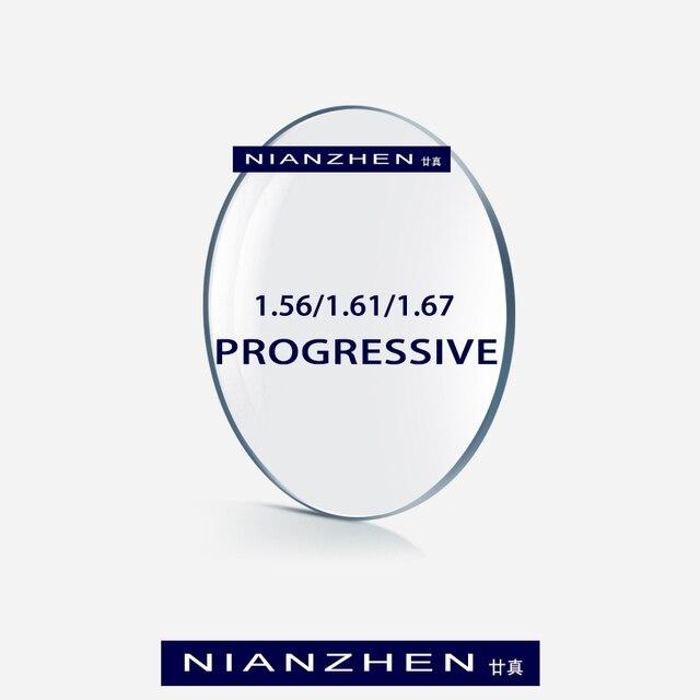 1.56 1.61 1.67 (להוסיף + 0.75 ~ + 3.00) progressive Multifocal עדשות מרשם קוצר ראייה רוחק התנגדות קצר תיכון רחוק עדשה
