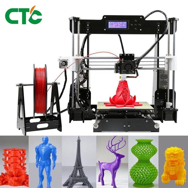 CTC A8 i3 Impresora 3D Printer High Precision Imprimante 3D DIY Kit With Aluminium Extruder Hotbed SD Card Build Tools Filament цена и фото