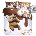 HOT SALE AUS Duplo GÊMEO queen size Olá kitty Padrão Dos Desenhos Animados da Criança conjuntos de Cama incluem capa de Edredon lençol fronha