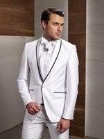2018 Popular New Arrival Groom Dress Shawl Collar Suit White Best Man Best Man Marriage Dance