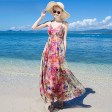 Women 100 Silk dress Beach 100% Natural Rose Floral Print Holiday summer dresses Free Shipping HOT Sell