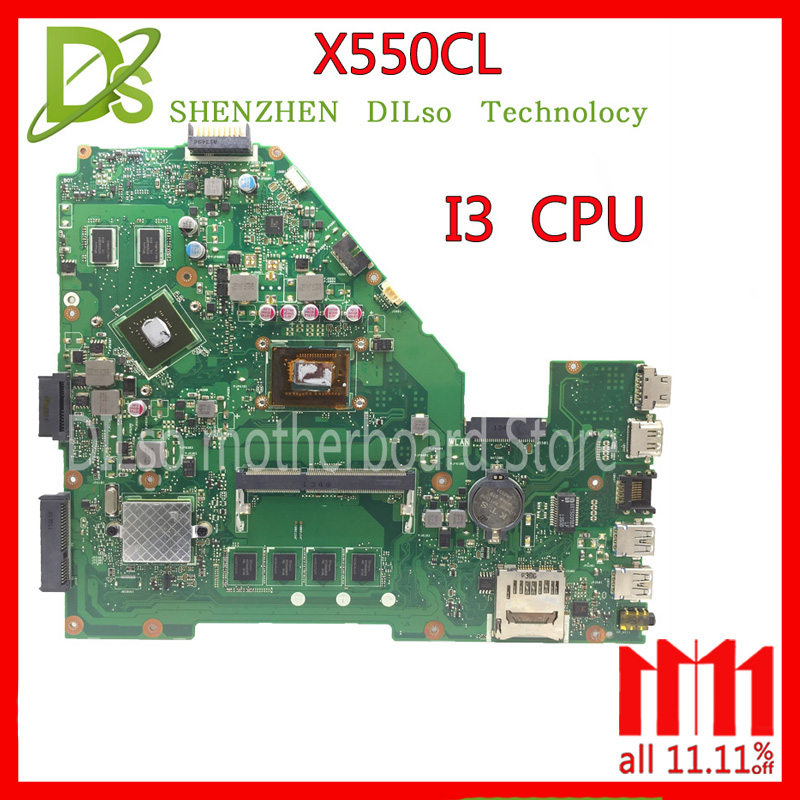 KEFU X550CL motherboard for ASUS X552C R510C R510CC X550CC Y582C laptop Motherboard I3 motherboard original motherboard x550cl motherboard i3 4gb for asus x550c x552c r510c r510c y582c laptop motherboard x550cl mainboard x550cl motherboard test