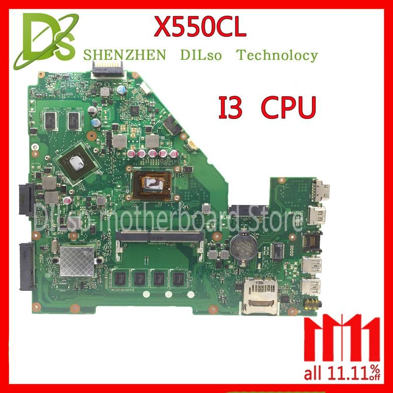 KEFU X550CL motherboard for ASUS X552C R510C R510CC X550CC Y582C laptop Motherboard I3 motherboard original motherboard все цены