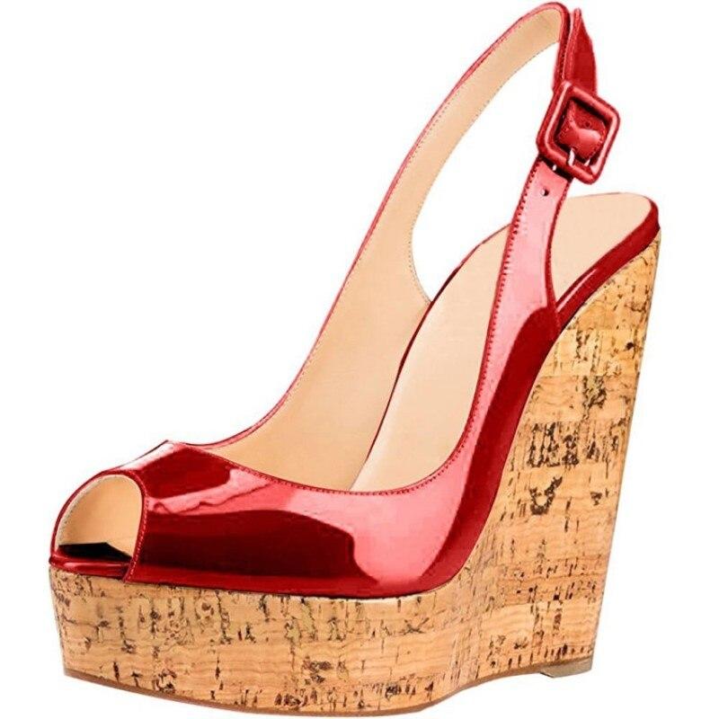 bbe58363d9f4e Green Pink Wedges Platform Sandals Cork Plus Size 45 Custom Shoes ...