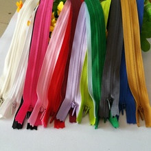 ( can choose the colors ) 3# Nylon mixe color closed end zippers length 50cm invisible zipper 100 piece for Sewing Accessories