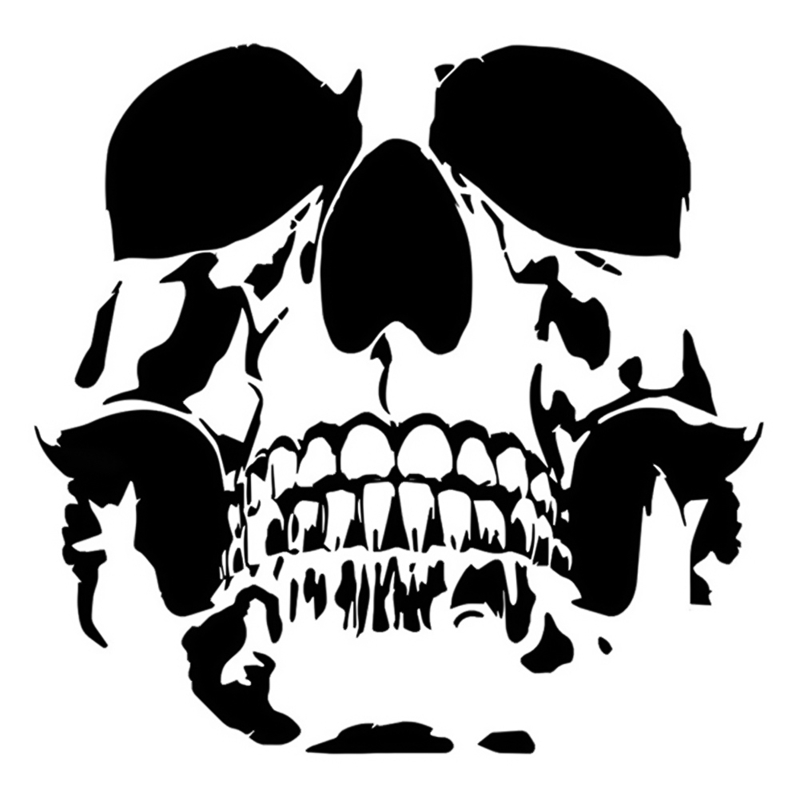 Lovely SKULL Car Stickers Vinyl Motorcycle Accessories Decoration 15.6*15.2CM