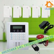 ЖК-Дисплей 99 Беспроводных и 2 Проводных Зон GSM PSTN Двойного Сети Главная Безопасность GSM Сигнализация Поддержка Голосовые Подсказки