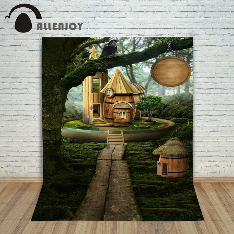 Allenjoy photographic background Microscopic forest huts backdrops children christmas photo scenic 8 x 8 ft