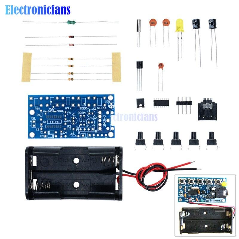 1 04 20 De Descuento 76 Mhz 108 Mhz Inalámbrico Estéreo Juego De Radio Fm Receptor De Audio Pcb Fm Kits Módulo De Aprendizaje Electrónica Para Diy
