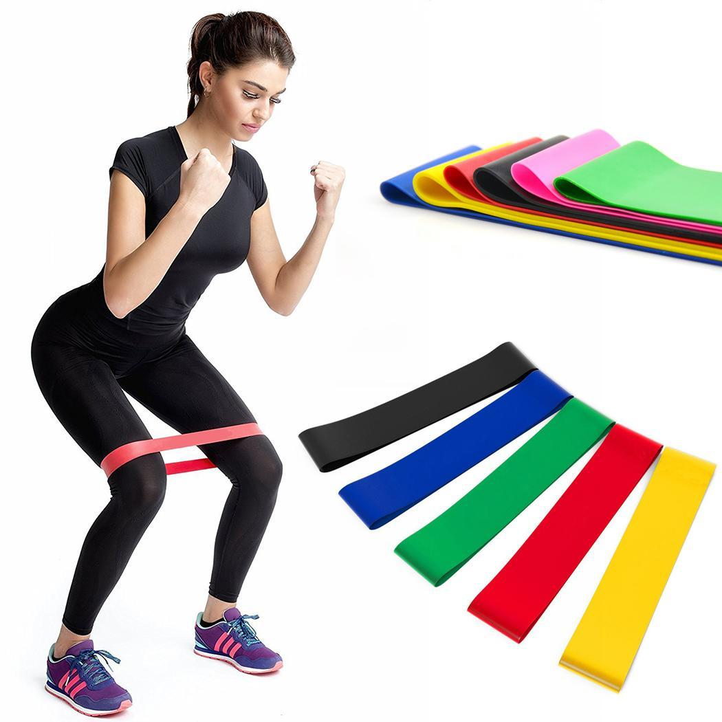 50/60cm Elastic Band Fitness Yoga Pilates Gym Durable Exercise Workout Training Resistance Band Loop Rubber Loops Bands