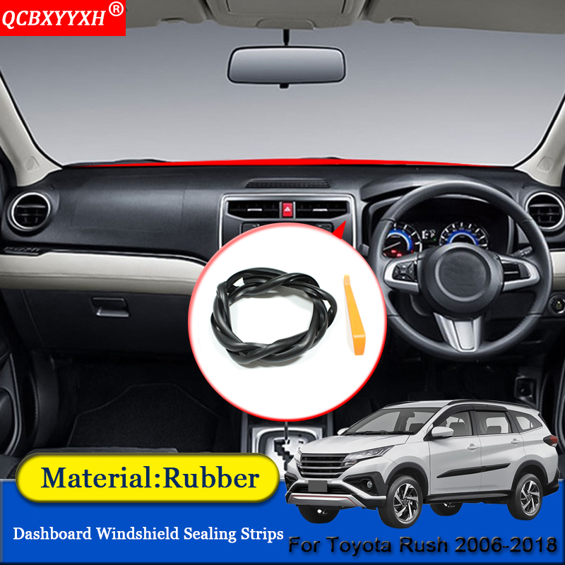 Car-styling Rubber Anti-Noise Soundproof Dustproof Car Dashboard Windshield Sealing Strips Accessories For Toyota Rush 2006-2018