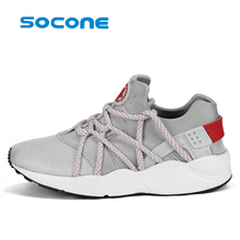 socone New Design Running Men Breathable Shoes man Running Sneakers Walking Shoes plus size trainers