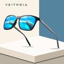 VEITHDIA Brand Unisex Retro Aluminum+TR90 Square Polarized Sunglasses