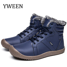 Boots Ankle-Shoes Antiskid Men's New Warm Plush YWEEN with Size-36-48