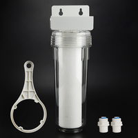 10 inch transparent PET filter bottle PP pre filter for Water purifier protector 35 kg explosion proof with DN8 1/4 interface