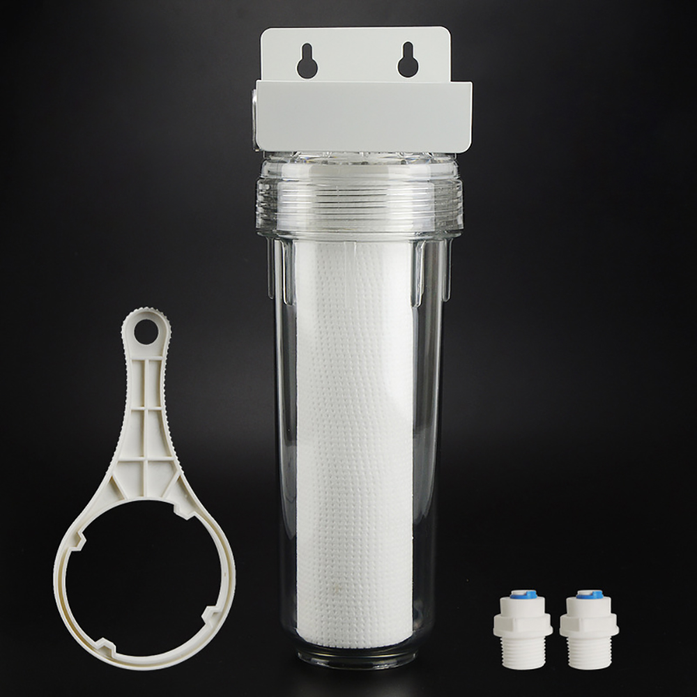 10 Inch Transparent PET Filter Bottle PP Pre-filter For Water Purifier Protector 35 Kg Explosion-proof With DN8 1/4