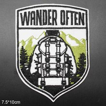 Wander Открытый Утюг на вышитые одежды патчи для одежды наклейки одежды оптом