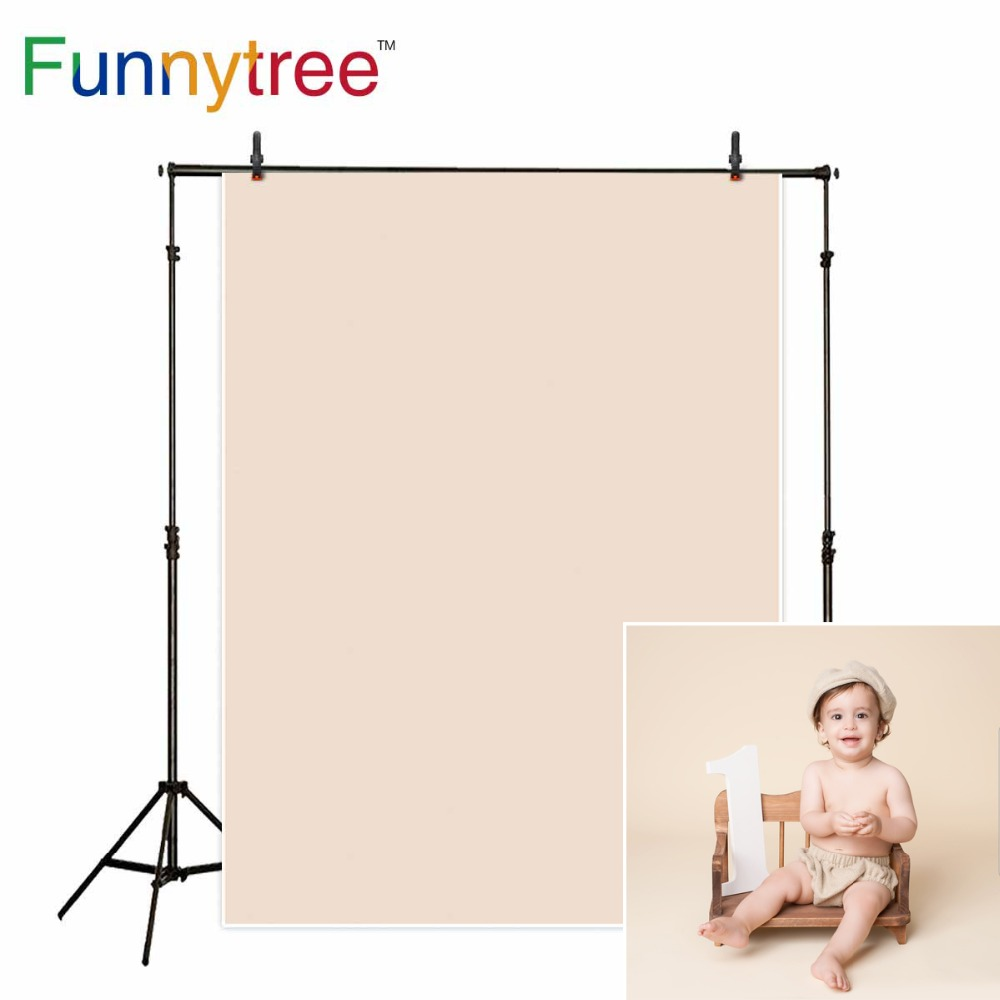Funnytree Photo background photography newborn baby Light Brown Solid color birthday backdrops for photo studio photophone