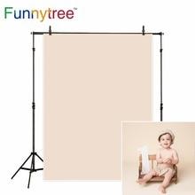 Funnytree תמונה רקע צילום יילוד תינוק אור חום מוצק צבע יום הולדת תפאורות תמונה סטודיו photophone