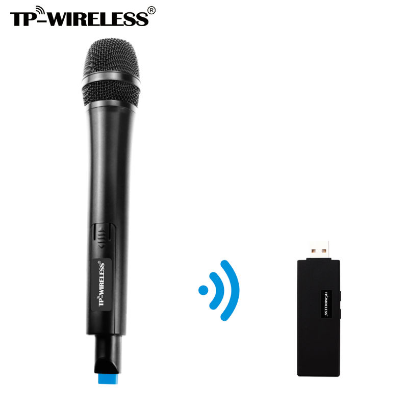 Micrófono inalámbrico USB de doble canal TP-WIRELESS para karaoke, - Audio y video portátil