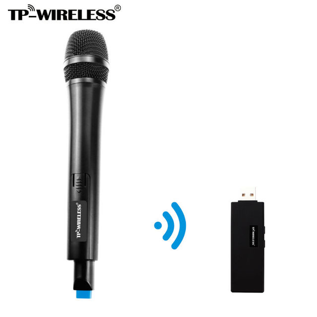 US $39 06 7% OFF|TP WIRELESS Dual Channel USB Wireless Microphone for  Karaoke, Conference, Lecture, Stage, Wedding, Recording, Singing online-in