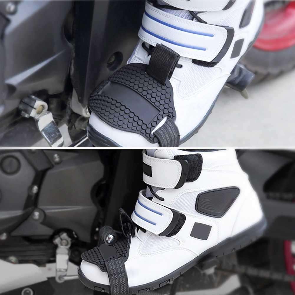 オートバイ保護シフトパッドモトクロス男性ブーツ靴保護乗馬ゴムレバー用レーシングブレーキカバー