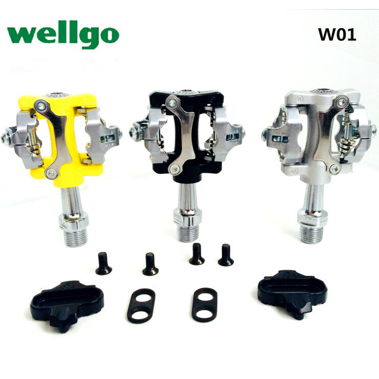 Wellgo W01/WPD-823 Road/mountain mtb Aluminum alloy bike bicycle pedals foot 's top ultralight shock bicycle pedal rockbros titanium ti mtb road bike bicycle pedals pedal spindle wellgo mg1 mg 1 mg 1
