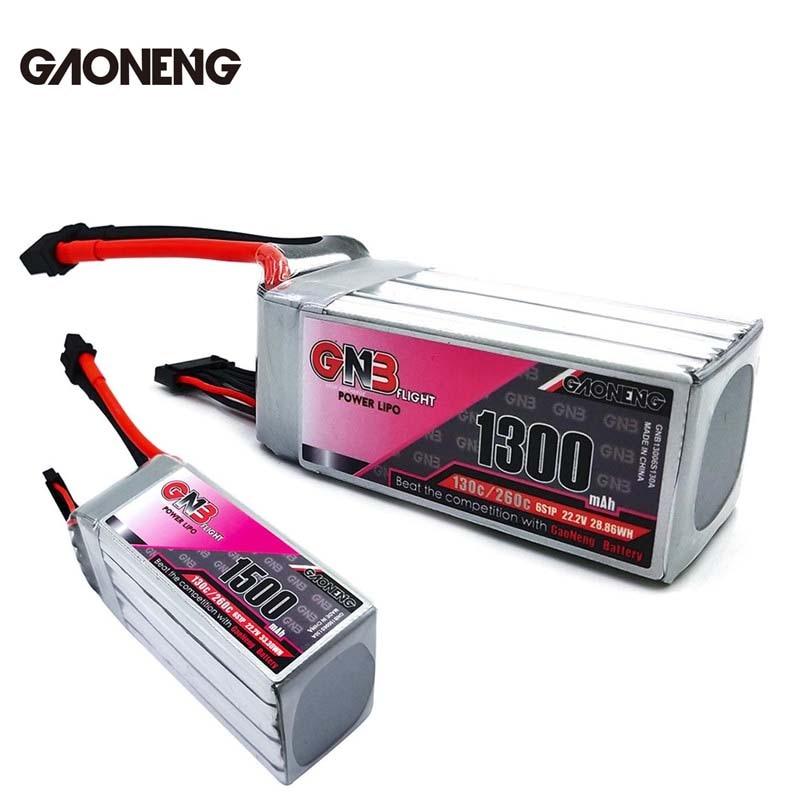 Gaoneng GNB 22.2 V 1500 mAh/1300 mAh 30C/260C 6 S Lipo Batterie Rechargeable Avec XT60 Plug connecteur Pour RC Modèles Multicopter