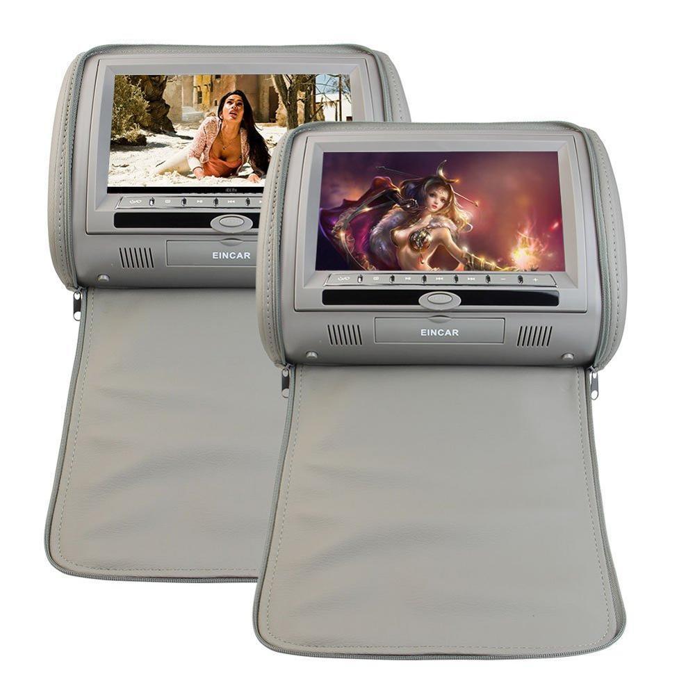 Двойной Высокое разрешение цифровой Экран 2 подголовник автомобиля пара мультимедиа dvd плеер автомобиля видео мультимедиа Булти в fm ик пере