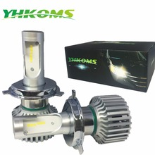 YHKOMS Car Headlight H4 H7 LED 9005/HB3 9006/HB4 H8/H9/H11 80W 8000LM Auto LED Bulb Car LED Light Super White 6000K Light Canbus