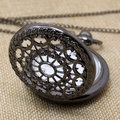 Vintage Bronze Web Spider Pocket watch Chain Antique Necklace Chain pendant Watch Women Men P242