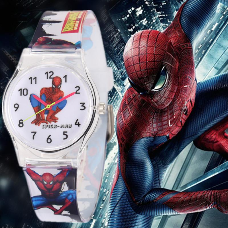 Sport Watches Waterproof Children Boy Quartz Watches Sports Watch Cute Spider man Kids Watch Gift Brand Casual Wristwatches 2019