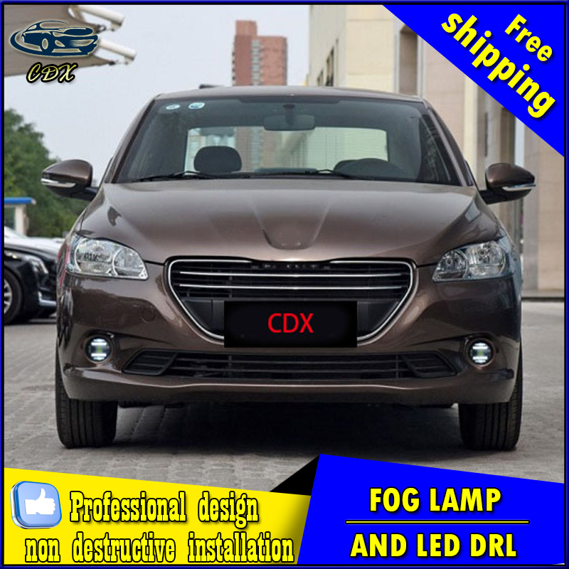 Car-styling LED fog light for Peugeot 307 2004-2013 LED Fog lamp with lens and LED daytime running ligh for car accessories kotanyi приправа для яблочного пирога шарлотки 26 г